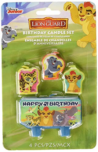 Amscan 170454 Disney'The Lion Guard' Birthday Candle Set, Multicolor
