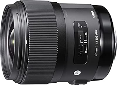 Sigma 35mm F1.4 Art DG HSM Lens for Canon, Black, 3.7 x 3.03 x 3.03 (340101) by SIGMA