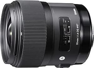Sigma 35mm F1.4 Art DG HSM Lens for Nikon, Black, 3.7 x 3.03 x 3.03 (340306)