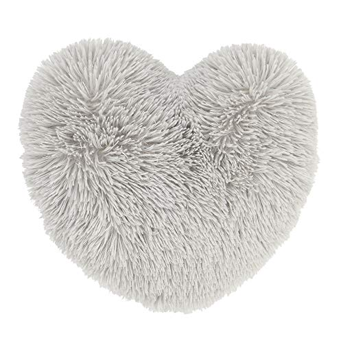 Catherine Lansfield Cuddly Heart 3D Cushion Silver
