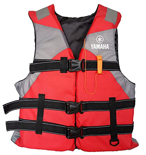 Life Jackets for Adults, Outdoor Water Sport Boating Jacket Vest for Adults, Water Sport Buoyancy Waistcoat Water Sports Lightweight Accessories for Sailing Surfing Kayaking (Red)
