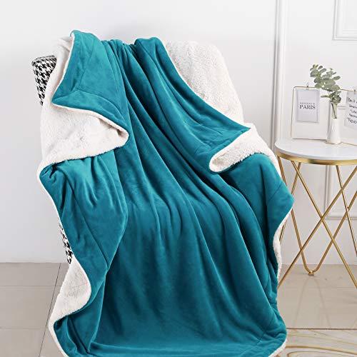 CozyLux Sherpa - Manta de forro polar para cama de matrimonio tamaño King (274,3 x 228,6 cm)
