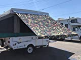 EZ Lite Campers Pop Up Tent Trailer Awning, Camping Trailer RV Awning 11ft Camo