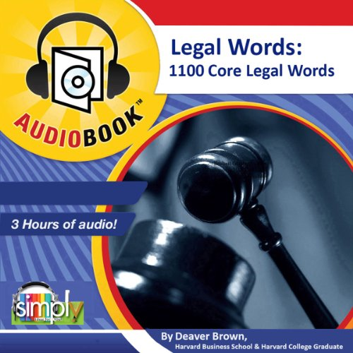 Legal Words audiobook cover art
