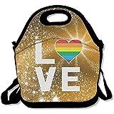 Gay Love Lunch-Taschen, leicht zu transportieren, große und dicke Neopren, isoliert,...