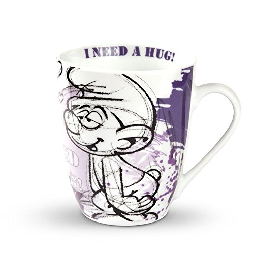 Egan vasos Pitufo verliebter Pitufo Amor Lila–Taza de café 350ml