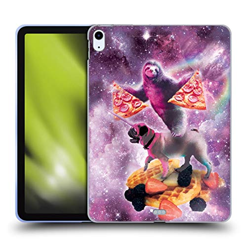 Official James Booker Pug Unicorn Riding Waffle Space Sloth Soft Gel Case Compatible for Apple iPad Air (2020)