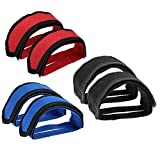 Hermard Bike Pedal Straps, 3 Pairs Pedal Toe Clips Straps Tape Bicycle Feet Strap for Fixed Gear...