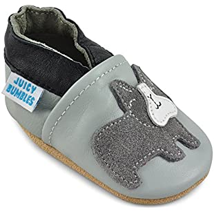 Customer reviews Juicy Bumbles Beautiful Soft Leather Baby Shoes with Suede Soles - Toddler Shoes - Infant Shoes - Pre Walker Shoes - Crib Shoes - Bridget Bulldog Grey - 6-12 Months