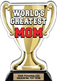 Crown Awards Worlds Greatest Mom Trophy, 7.25' Best Mother Ever Trophy, Engraving Included Prime