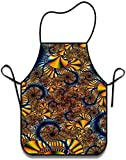 XCNGG Delantal de Cocina Mother Gifts Polyester Washable Durable Overlock Kitchen Bib Apron with Long Neck Strap for Cooking Baking Gardening Dollar Sign Money 20.5×28.3 in