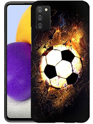 Glisten Samsung Galaxy A02S 5G Case -Soccer On Fire Design Printed Slim Profile Cute Plastic Hard Snap on Protective Designer Back Case/Cover for Samsung Galaxy A02S 5G.