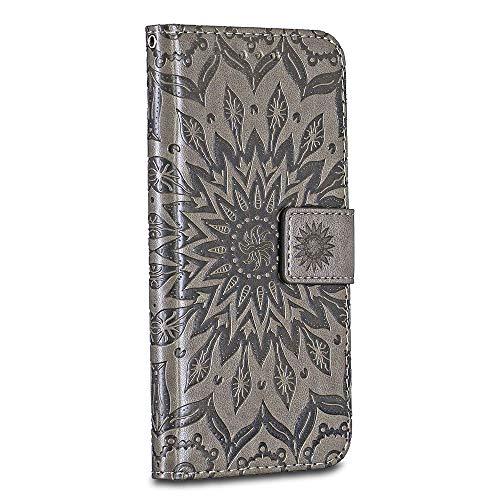 Google Pixel Case Cover, Casake [Ripple] [High Quality Pu Leather] [Card Slot] [Wallet Leather Flip Case] for Google Pixel Case, Grey