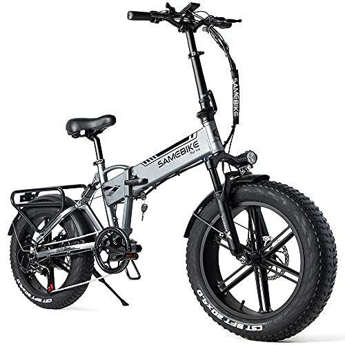SAMEBIKE Fat Bike Bicicleta Electrica Montaña de...