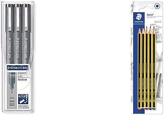 STAEDTLER 308 Pigmento Forro Fineliner Dibujar Esbozar Bolígrafo Pack De 2