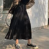 FZJDX Élégantes femmes lâches plissées jupes décontractées taille élastique femme jupes...