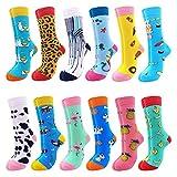 Merclix Bunte Socken Damen Lustige Socken Damen MäDchen, Geschenke FüR Frauen Lustige Geschenke, Baumwolle, 42, Tier 2