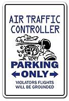 AIR トラフィックコントローラー パーキング アルミニウム サインコントロール ミリタリー 飛行機 | 屋内/屋外 | 高さ14インチ