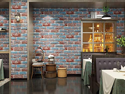 Papel tapiz Papel de pared Colorido Ladrillo PatrónCocina Estantes Revestimientos Mostrador Papel de contacto Pelar Stick Papel tapiz (W) 0.53X (H) 9.5M
