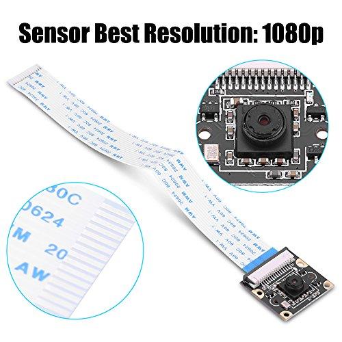 Modulo telecamera per versione notturna per Raspberry Pi, sensore OV5647 5MP Webcam Video 1080p Supporto registrazione video 1080p30, 720p60, 640x480p60/90, supporta tutte le revisioni per Raspberry P