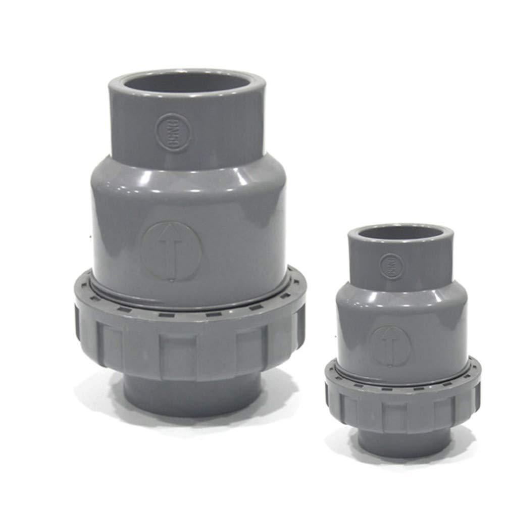 Single Union Ball Check Valve SHMONO 1-1//2 PVC Check Valve Ball-Type Control Devices Socket Available 3//4,1,1.25,2
