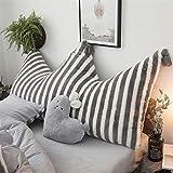 Liveinu Krone Fleece Kopfteil Kissen mit Pompons Bett Rückenkissen Rückenlehne