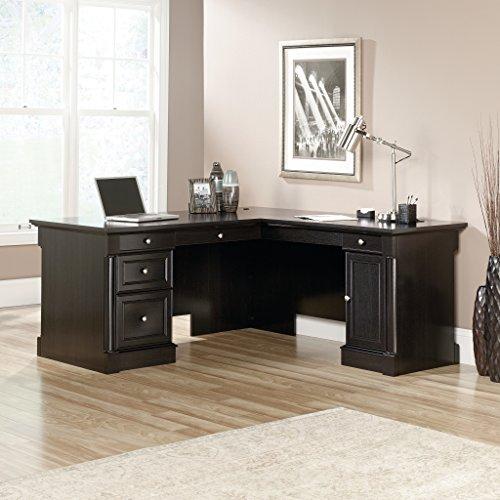 Sauder Obsidian Oak Bleeker Street L-Desk