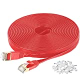 MATEIN Cat7 Flat Ethernet Cable, 50 Ft 10 Gigabit High Speed Solid Computer Network Cord with...