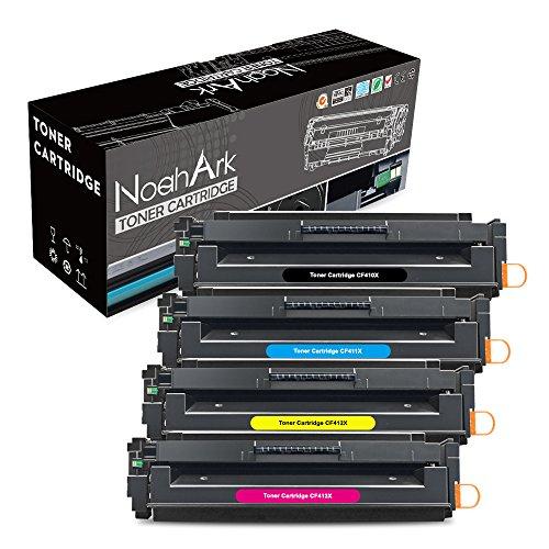 NoahArk Compatibel HP 410X CF410X CF411X CF412X CF413X tonercartridge voor HP Colour Laserjet Pro MFP M477fdw M477fnw M477fdn M452dn M452nw M452dw M377dw M377 printer 4 Pack(BKCMY) multi-pak