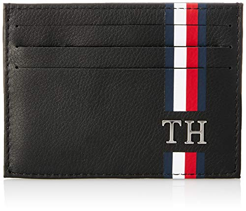 Tommy Hilfiger Herren Th Corporate Cc Holder Kreditkartenhülle, Schwarz (Black), 1x7.2x10.4 cm