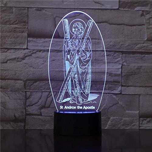 (Nur 1) Biblische Geschichten Bibel 7 Farblampe 3d Visual Led Nachtlichter für Kinder Touch Usb Tisch Lampara Lampe Baby Sleeping Nightlight