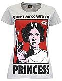 Star Wars–Princesa Leia–Camiseta de manga corta–Mujer gris XXL
