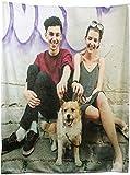 Duroon Personalisierte Decke mit Foto Super Weich Fotodecke mit Eigenem Bild Kuschelig als Paar Geschenke für Jahrestage oder Hochzeitstag