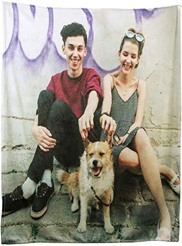 Duroon Fotodecke mit Eigenem Foto Kuscheldecke Selbst Gestalten Super Weich Sofadecke TV-Decken Wohndecke als Romantisches Geschenk für Jahrestage oder Hochzeitstag