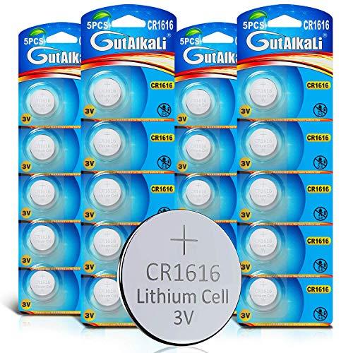GutAlkaLi 20 Stück CR1616 3V Lithium Knopfzelle Elektro CR 1616 Lithium