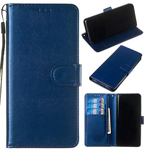 Capa carteira de couro PU premium de cor sólida clássica flip da XYX para Huawei Mate 10 Pro (azul)