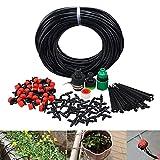 BBGS Sistema de Riego de Jardines, Boquilla 30pcs Automático Sistema de Riego de Jardín con Gotero Ajustable Distribución Kit de Riego por Goteo