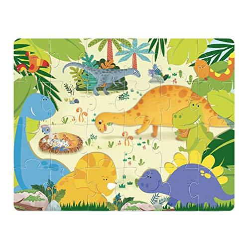smonke Geschicklichkeitsspiel Kinderintelligenz Frühpuzzlespiele Dinosaur Planet 24 PCS-Rätsel Kinderpädagogische Früherziehung 2mm Puzzle Dinosaurier Puzzle 24PCS