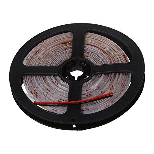 Luz de tira - SODIAL(R)Impermeable 5M LED 300 x 3528 SMD 12V CC blanco natural 20W IP65 Luz de tira