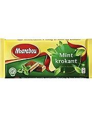 Marabou Chocolate Con Leche Con La Menta 200g Quebradizo - Mintkrokant (Paquete de 2)