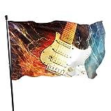 Jazz Rock Cool Guitarra eléctrica para niño Banderas Decorativas Banderas de decoración 3x5 pies Colores Vibrantes Calidad Poliéster
