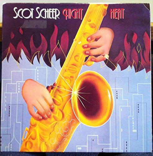 SCOT SCHEER night heat LP Mint- PR-3002 Promo w/Press Sheet 1987 Record