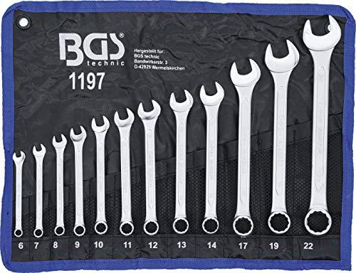 BGS - Maulringschlüssel-Satz, 12-teilig, 6-22 mm