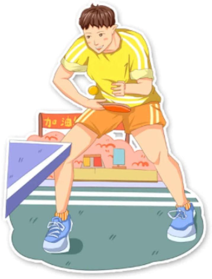 Cbhsjinsuxha 4 Piezas Pegatinas de Coche 13.4 * 10 CM Pegatinas de Coche Ping-Pong Fitness Pegatinas de Coche Accesorios Movimiento Extremo