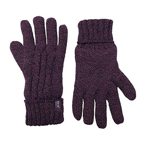 HEAT HOLDERS Ladies Cable Knit 2.3 tog Heatweaver Thermal Gloves...