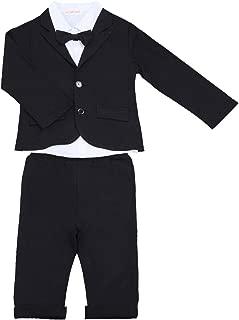 YiZYiF 3 Stück Baby Kinder Jungen Kleidung Set Party Taufe Hochzeit Smoking Anzüge & Sakkos Mantel Coat + Shirt + Pants Hose Outfits Gr. 80 86 92 104 110