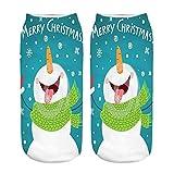 YWLINK CalcetíN De Navidad De Dibujos Animados ImpresióN Digital 3D MuñEco De Nieve Calcetines Deportivos Casuales Suave Y Confortable Calcetines Medianos Regalo De Navidad