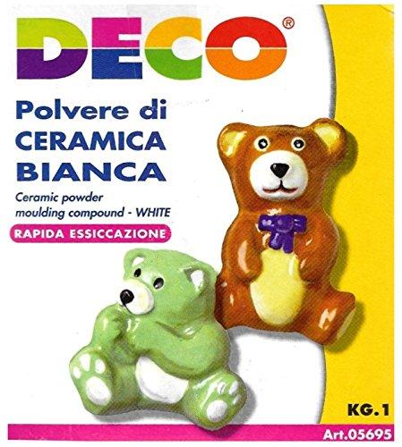 DECO 05695 Polvere Ceramica, Bianca