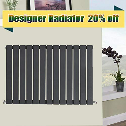 Horizontale zuilradiator antraciet 600 x 884mm enkele flat panel woonkamer slaapkamer zitkamer warmer verwarming Radiator maar 2834 fit voor UK centrale verwarming systeem