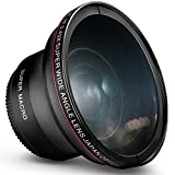 58MM 0.43x Altura Photo Professional HD Wide Angle Lens (w/Macro Portion) for Canon EOS 70D 77D 80D 90D Rebel T8i T7 T7i T6i T6s T6 SL2 SL3 DSLR Cameras